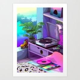 Vaporwave Aesthetic Art Print