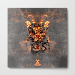 Dragon Knight Metal Print