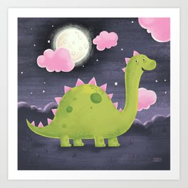 Gus the Dinosaur Art Print