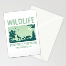 Wildlife Surprises You When You Least Expect It gr Stationery Cards