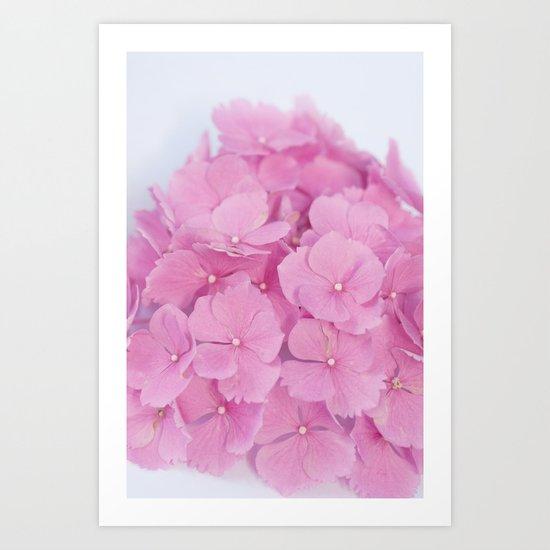 Light-Pink Hydrangeas #1 #decor #art #society6 Art Print