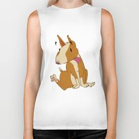 bull terrier Biker Tanks featuring Bull Terrier by Kristen Rimmel