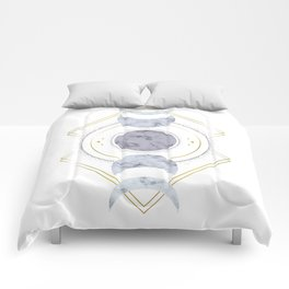 Marble Moon Phases Comforters