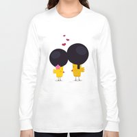 afro Long Sleeve T-shirts featuring Afro Love by Piktorama