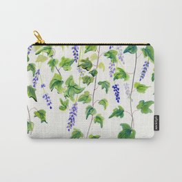 Ivy and Lavender Watercolor Carry-All Pouch