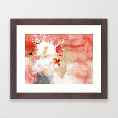 Moon at Noon Framed Art Print