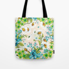 Adorable white sunflower texture Tote Bag