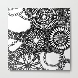 graphic dots pattern Metal Print