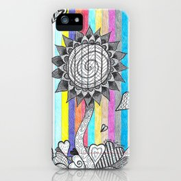 Striped Flower iPhone Case