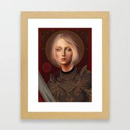 St. Joan of Arc Framed Art Print