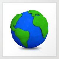 globe Art Prints featuring Globe by Tassos Kotsiras