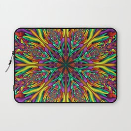 Crazy colors 3D mandala Laptop Sleeve