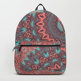Tribal Medallion Rust Backpack