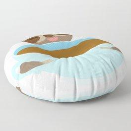 sloth & coffee Floor Pillow