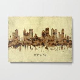 Boston Massachusetts Cityscape Metal Print