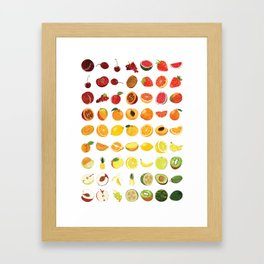 Fruits Galore Framed Art Print