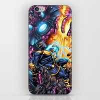 thanos iPhone & iPod Skins featuring Thanos Vs  by MonsterBox