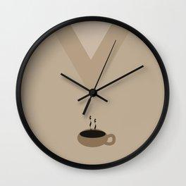 Caramel Latte Wall Clock