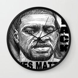 George Floyd - Black Lives Matter Wall Clock