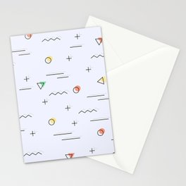 Memphis geometrical cool patter Stationery Cards