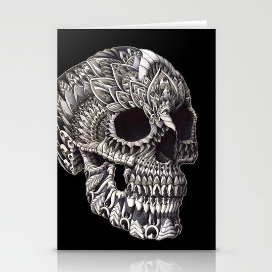 Ornate Skull Stationery Cards