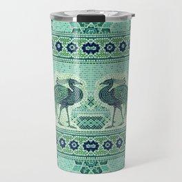 Peacocks Mosaic Travel Mug