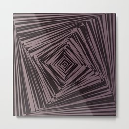 geometric optical illusion Metal Print