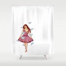 On A Breeze Shower Curtain