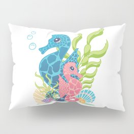 Florida Seahorses Pillow Sham