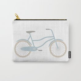 Blue Retro Bicycle Carry-All Pouch