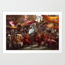 In the Market Place Art Print