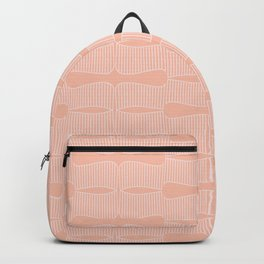 Abstract Hand drawn striped pattern in pastel pink color palette Backpack