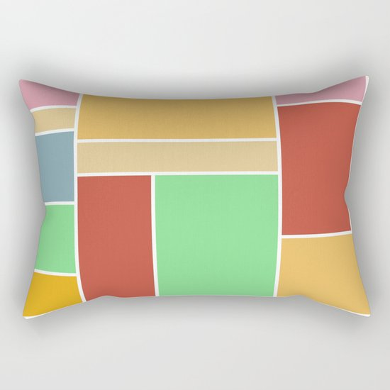Abstract #347 60's Color Palette Rectangular Pillow
