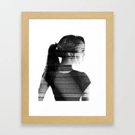 She was lost in her longing to understand. Framed Art Print