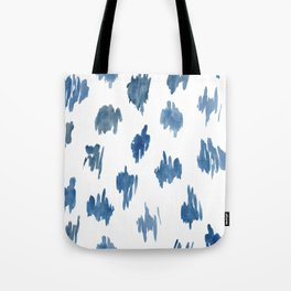 Brushstrokes of blue paint Tote Bag