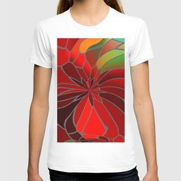 Abstract Poinsettia T-shirt