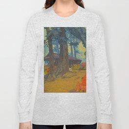 Azalea Garden (Teahouse) 1938 Vintage Beautiful Japanese Woodblock Print Hiroshi Yoshida Long Sleeve T-shirt