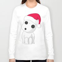 kodama Long Sleeve T-shirts featuring Christmas Kodama by pkarnold + The Cult Print Shop