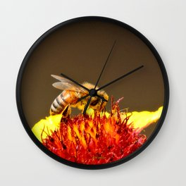 Pollenator at Work Wall Clock