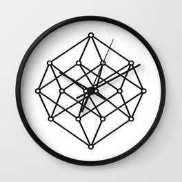 black line, prism art , wallpaper , case for iphone Wall Clock