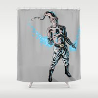 dbz Shower Curtains featuring Buu by Ryan Boyle