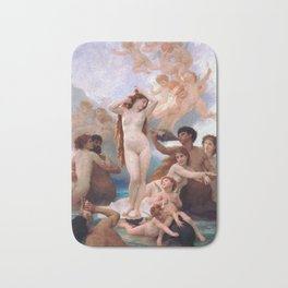 The Birth of Venus by William Adolphe Bouguereau Bath Mat