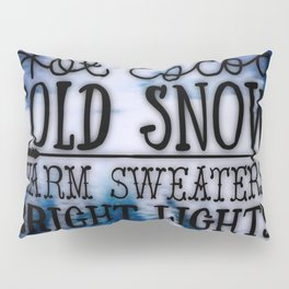 Winter love Pillow Sham