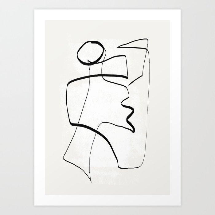 Abstract line art 6 Art Print