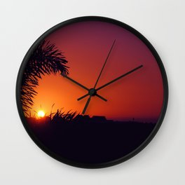 sunset in mexico Wall Clock