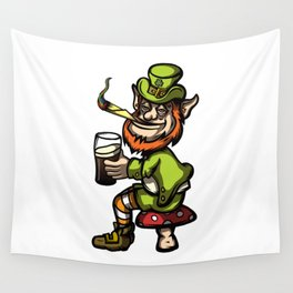 Wasted Leprechaun Wall Tapestry