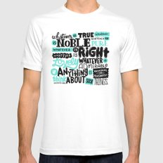true noble right lovely admirable MEDIUM White Mens Fitted Tee