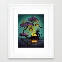 halloween Framed Art Prints featuring Halloween by Anna Shell