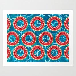 Water-melons Art Print