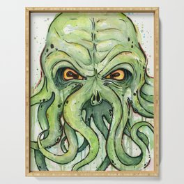 Cthulhu HP Lovecraft Green Monster Tentacles Serving Tray